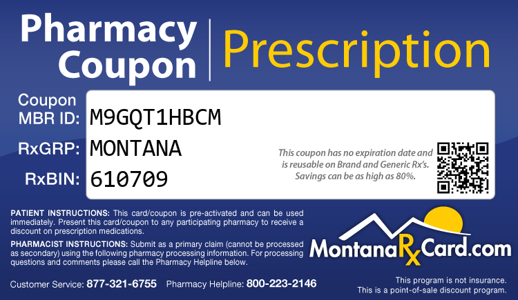 Montana Rx Card - Free Prescription Drug Coupon Card